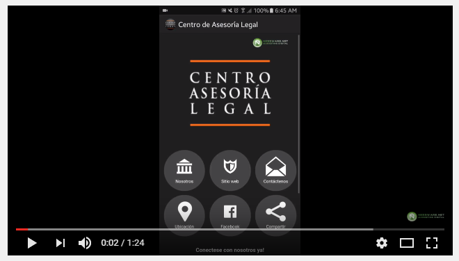 Video Demo App – Centro Asesoria Legal